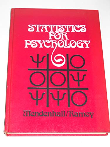 Statistics for Psychology: William Mendenhall; Madelaine