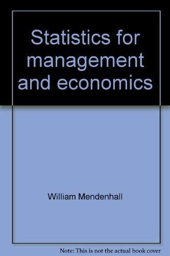 9780878721429: Statistics for management and economics