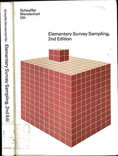 9780878721702: Elementary Survey Sampling
