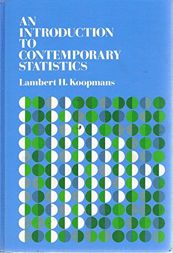 9780878722921: Introduction to Contemporary Statistics