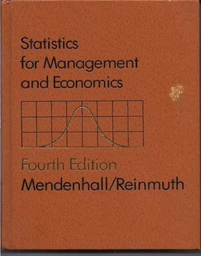 9780878722969: Statistics for management and economics