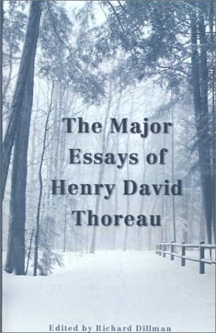 9780878755233: The Major Essays of Henry David Thoreau