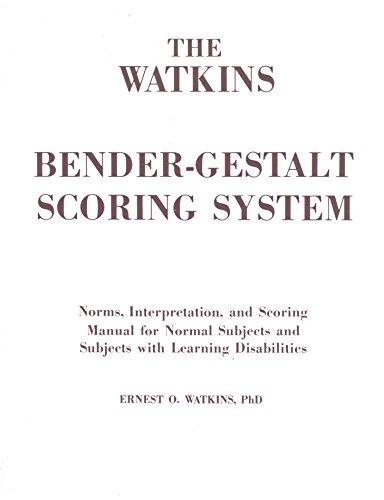 the watkins bender gestalt scoring system norms interpretation rh abebooks co uk Bender-Gestalt Test Score Reports Bender-Gestalt Kiss Drawings