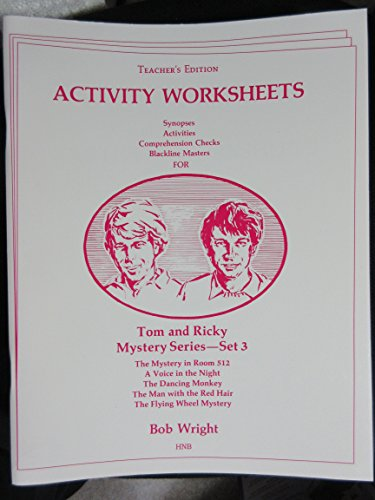 9780878795116: Tom and Ricky Mystery Series- Set 3(Teacher's Edition): Reproducable Workbook (High Noon S.)