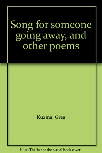 9780878860302: Song for someone going away, and other poems