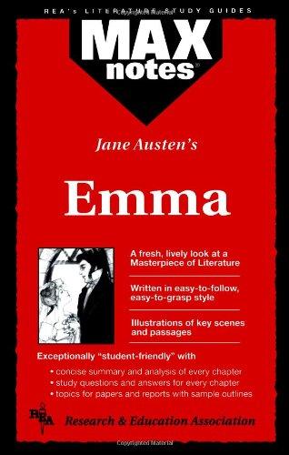9780878910120: Emma (MAXNotes Literature Guides)