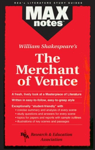 9780878910267: The Merchant of Venice (Maxnotes Literature Guides)