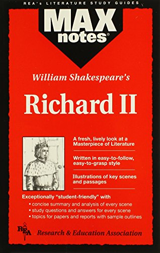 Richard II: (MAXNotes Literature Guides) (0878910433) by Morrison, Michael; English Literature Study Guides