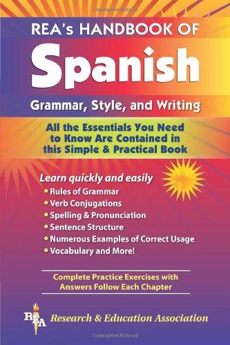 REA's Handbook of Spanish Grammar, Style, and Writing (0878910948) by Lana R. Craig M.A.; Spanish Study Guides; Lana R. Craig