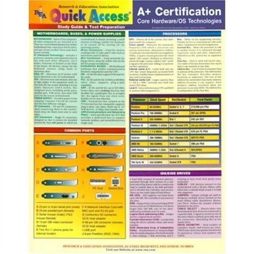 9780878911219: A+ Certification (Core Hardware) Quick Access (Quick Access Reference Charts)