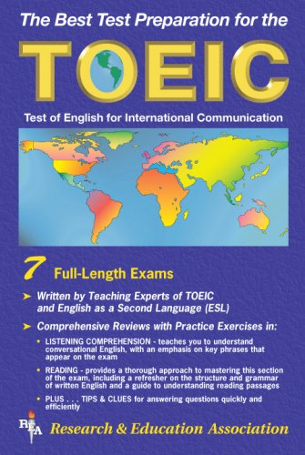9780878911400: TOEIC (REA) - The Best Test Prep for the TOEIC (Test Preps)