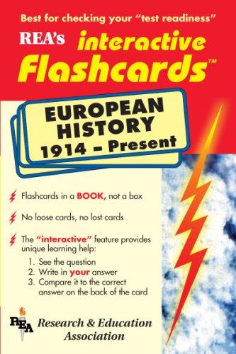 European History 1914-Present Interactive Flashcards Book (Flash: The Editors of