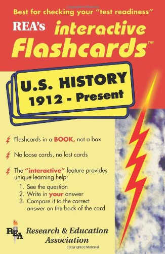 United States History 1912-Present Interactive Flashcards Book (Flash Card Books) (0878911669) by The Editors of REA; US History Study Guides