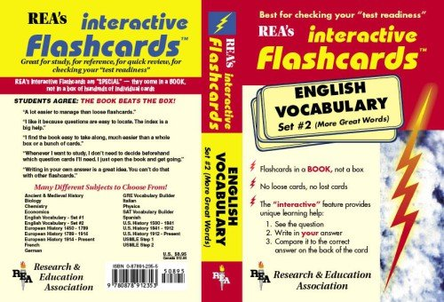 9780878912353: English Vocabulary - Set #2 Interactive Flashcards Book: Pt.2 (Rea's Interactive Flashcards)