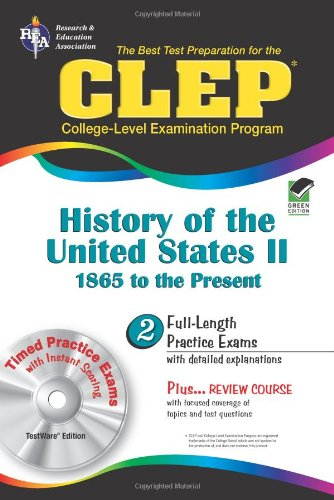 9780878912735: CLEP History of the United States II w/CD (REA) - The Best Test Prep for the CLE (Test Preps)