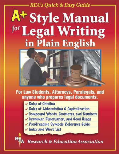 9780878913657: A+ Style Manual For Legal Writing in Plain English (Language Learning)