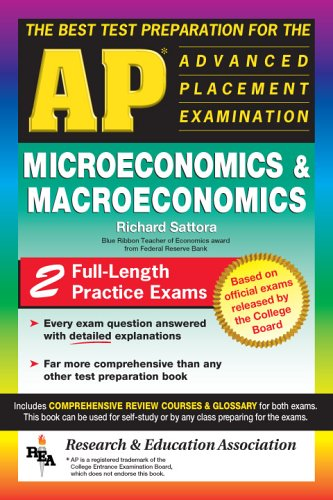 9780878914593: AP Microeconomics and Macroeconomics (REA) - The Best Test Prep: The Best Test Prep for the Advanced Placement Exam (Advanced Placement (AP) Test Preparation)