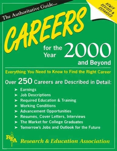 Careers for the Year 2000 and Beyond (Handbooks & Guides): Research & Education Association, ...