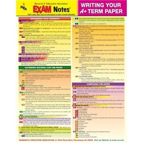 9780878914951: EXAMNotes for Writing Your A+ Term Paper (EXAMNotes)