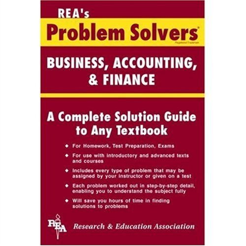 9780878915163: Business, Accounting & Finance Problem Solver (Problem Solvers Solution Guides)