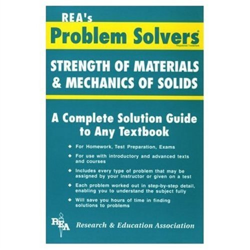 9780878915224: REA's Problem Solvers: Strength of Materials & Mechanics of Solids