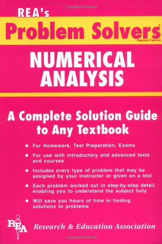 9780878915491: Numerical Analysis Problem Solver (Problem Solvers Solution Guides)