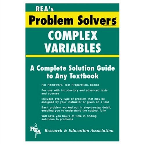 9780878916047: Complex Variables Problem Solver (Problem Solvers Solution Guides)