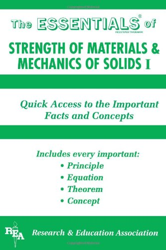 9780878916245: The Essentials of Strength of Materials and Mechanics of Solids I (Rea's Essentials) (v. 1)