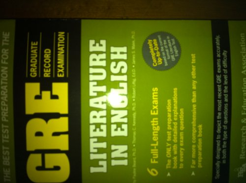 The Best Test Preparation for the Gre: Literature in English (Graduate Record Examination in ...