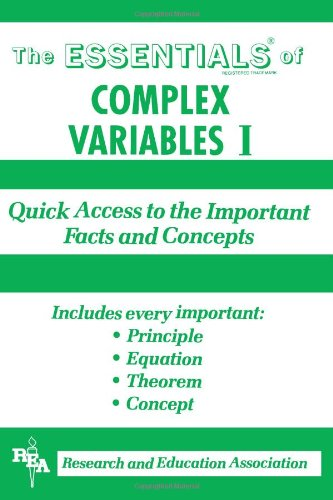 9780878916610: The Essentials of Complex Variables I: Quick Access to the Important Facts and Concepts (Vol 1)