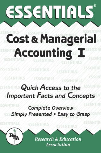 Cost and Managerial Accounting I Essentials: Keller, William D.