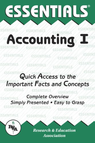 9780878916672: Accounting I Essentials (Essentials Study Guides) (v. 1)