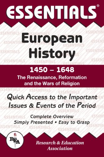 9780878917068: European History: 1450 to 1648 Essentials (Essentials Study Guides)