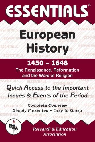 9780878917068: European History: 1450 to 1648 Essentials (Essentials Study Guides)