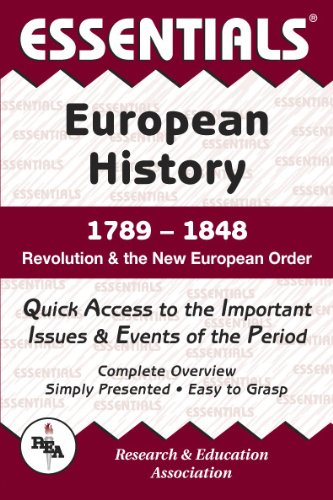 9780878917082: Essentials of European History, 1789-1848: Revolution and the New European Order