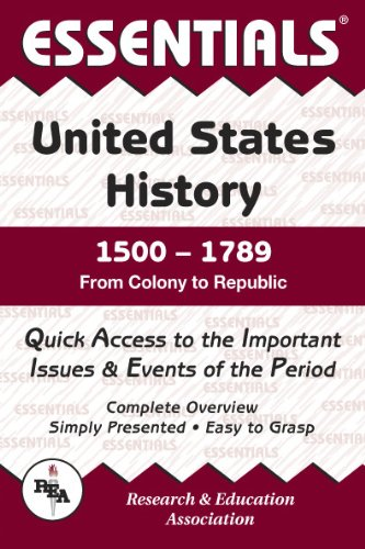 United States History: 1500 to 1789 Essentials (Essentials Study Guides) (0878917128) by Steven E. Woodworth; US History Study Guides
