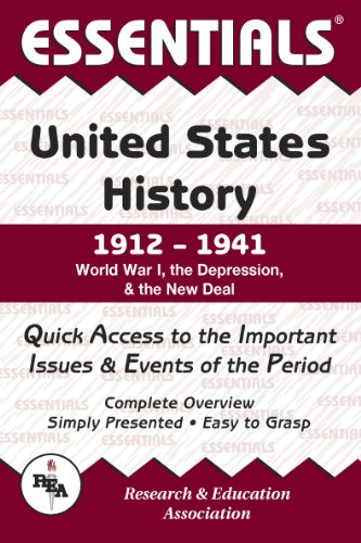 9780878917167: Essentials of United States History, 1912-1941 : World War I, the Depression and the New Deal (Essentials)
