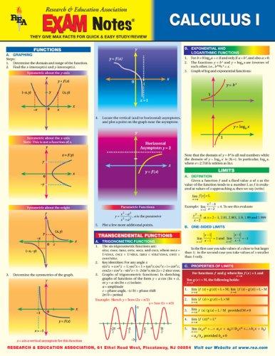 9780878917327: EXAMNotes for Calculus I (EXAMNotes)