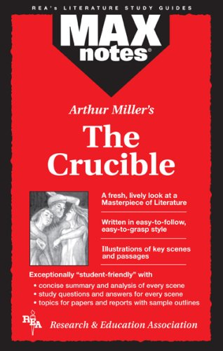 9780878917532: Crucible, The (MAXNotes Literature Guides)