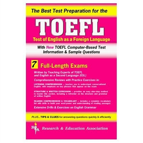 9780878917846: TOEFL with Cassettes (REA) - The Best Test Prep for the TOEFL (Test Preps)