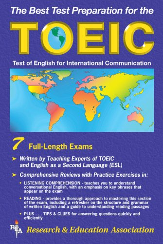 9780878917969: TOEIC w/ Audio Cassettes (REA) - The Best Test Prep for the TOEIC (Test Preps)