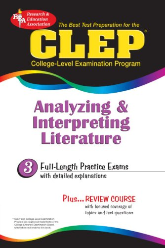 9780878918973: CLEP Analyzing & Interpreting Literature (REA) - The Best Test Prep for the CLEP (Test Preps)