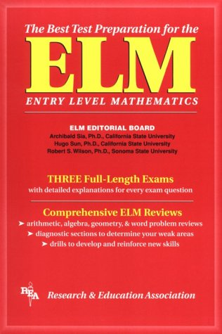 9780878919093: Elm: The Best Test Preparation for the Entry Level Mathematics