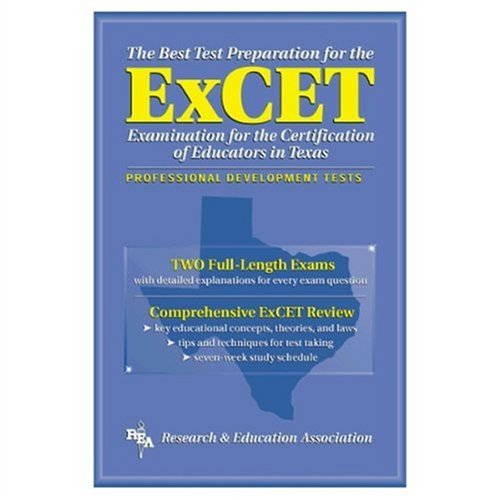 9780878919710: ExCET -- The Best Test Prep: for the Examination for the Certification of Educators in Texas (Test Preps)