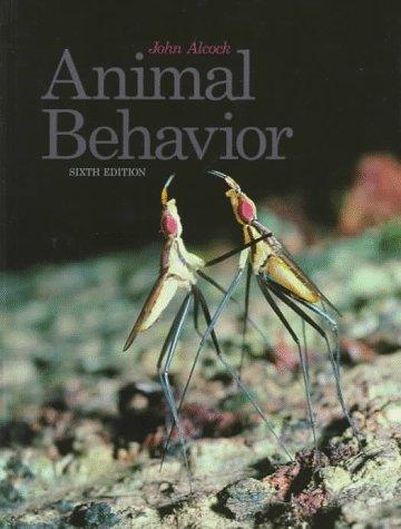 9780878930098: Animal Behaviour: An Evolutionary Approach