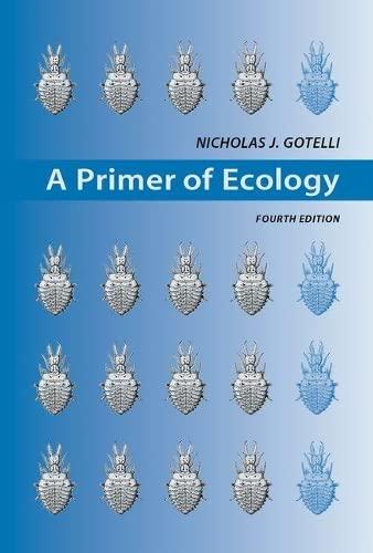 9780878933181: A Primer of Ecology