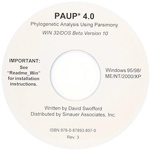 9780878938070: Paup 4.0 Beta Version for Windows: Phylogenetic Analysis Using Parsimony