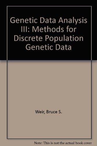 9780878939077: Genetic Data Analysis III