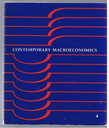 9780879010744: Contemporary macroeconomics