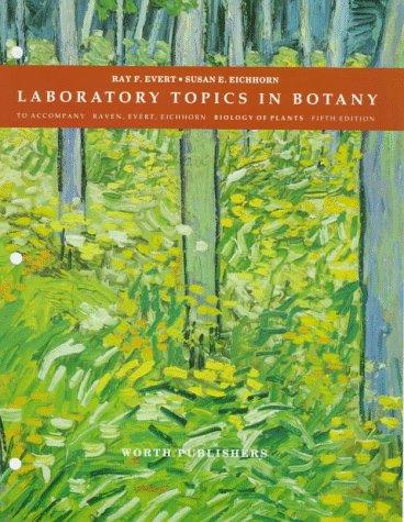 9780879015213: Laboratory Topics in Botany: To Accompany Raven,m Evert, Eichhorn Biology of Plants